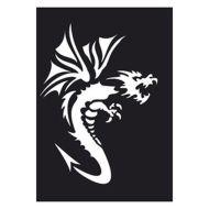 Selvklæbende Tattoo stencil. Dragon2