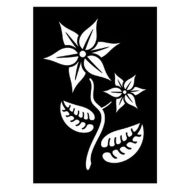 Selvklæbende Tattoo stencil. Plant