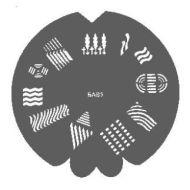 Badger Nail Stencil 600905