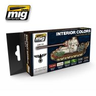 AMIG7108 INTERIOR COLORS: GERMAN TANKS sæt 6 x 17 ml.