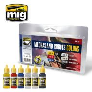 AMIG7127 Robots & Mechas Colors sæt 6 x 17 ml.