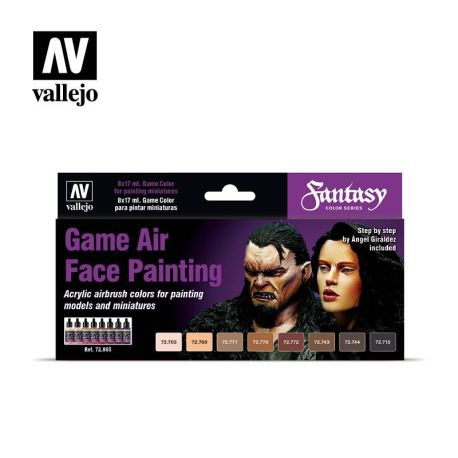 72.865 Game Air Face Painting sæt 8 x 17ml