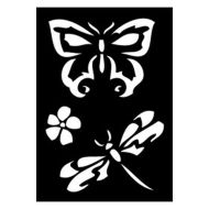 Selvklæbende Tattoo stencil. Butterfly