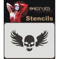 Senjo Color Skull Tattoo 01 Stencil
