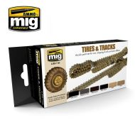 AMIG7105 TIRES AND TRACKS COLORS sæt 6 x 17 ml.