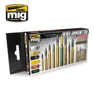 AMIG7124 WWII Ammunition Colors sæt 6 x 17 ml.