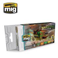 AMIG7154 Futuristic Warzone Scenarios Color sæt 6 x 17 ml.