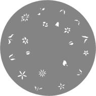 Createx Nail Stencil Flowers