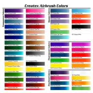 Createx Airbrush Colors color chart