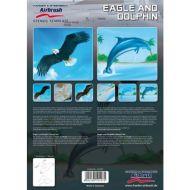 H&S Animals (eagle & dolphin) stencil 410107