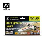71.612 Star Fighters Colors sæt 8 x 17ml