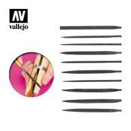 Vallejo Set Of 10 Needle Files T03001