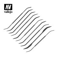 Vallejo Set Of 10 Curved Files T03003