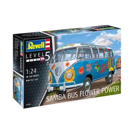 """Revell VW T1 Samba Bus """"Flower Power"""" 07050 (1:24)"""