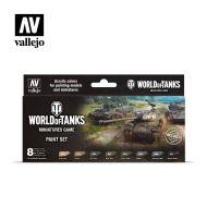 70.245 World Of Tanks sæt 8 x 17ml + 2 Pensler