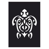 Selvklæbende Tattoo stencil. Maori Turtle