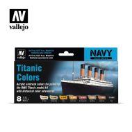 71.646 Titanic Colors sæt 8 x 17ml